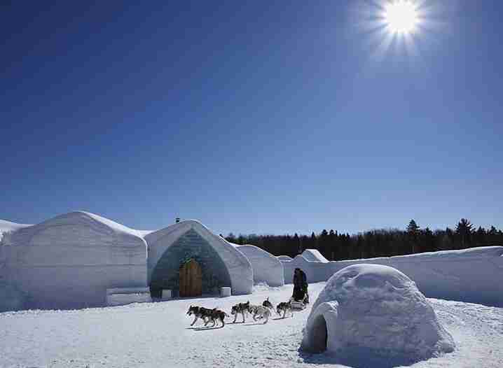 Sleep at the Ice Hotel at Village Vacances in Valcartier (one of two in the world)