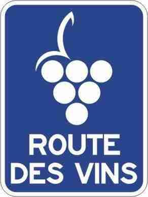 Route des vins sign